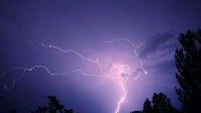 与闪电的夜空 影视素材