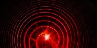与闪电的抽象典雅的红色圈子 免版税库存照片