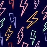 与闪电的无缝的纹理 皇族释放例证