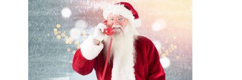 与闪耀的圣诞老人点燃与闪耀的光bokeh background_0054的bokeh background_Santa 免版税库存图片