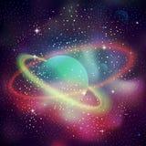 与闪耀的星的空间背景 图库摄影