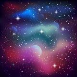 与闪耀的星的空间背景 免版税库存图片