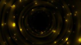 与闪耀的橙色发光的空间担任主角录影动画 皇族释放例证