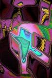 与闪耀的颜色的印象派摘要 向量例证