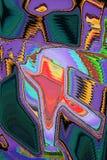 与闪耀的颜色的印象派摘要 库存例证