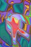 与闪耀的颜色的印象派摘要 皇族释放例证