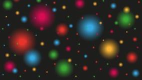 与闪闪发光星的抽象夜空 股票录像