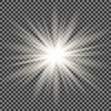 与闪闪发光的星爆炸 向量例证