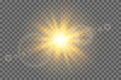 与闪闪发光的星爆炸 库存例证