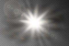 与闪闪发光的星爆炸 皇族释放例证