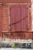与闭合的快门的视窗 免版税库存照片