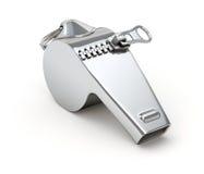 与闭合的拉链的Whisle 库存例证