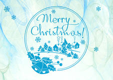 与问候文本`圣诞快乐的寒假背景! ` 库存图片