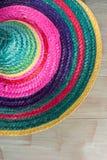 与阔边帽的墨西哥背景 免版税图库摄影