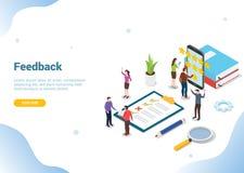 与队人和清单剪贴板的等量3d反馈企业规定值星概念网站模板着陆主页的 皇族释放例证