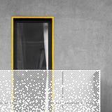 与阳台和窗口的抽象建筑学 免版税库存照片