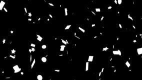 与阿尔法的五彩纸屑美国无缝的圈 向量例证