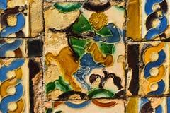 与阿拉伯影响的陶瓷艺术 库存照片