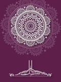 与阿拉伯文本的美丽的贺卡Eid的 免版税库存照片