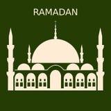 与阿拉伯样式的赖买丹月Kareem伊斯兰教的设计清真寺圆顶剪影 库存照片