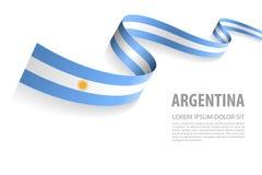 与阿根廷旗子颜色的传染媒介横幅 库存例证