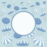 与降伞的传染媒介框架 图库摄影