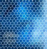 与陶瓷几何形状的蓝色马赛克构成您的设计的 免版税图库摄影