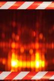 与障碍磁带的立标灯 免版税图库摄影