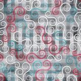 与难看的东西作用的抽象螺旋无缝的纹理 免版税库存图片