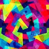 与难看的东西作用的明亮的几何无缝的样式 皇族释放例证