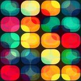 与难看的东西作用的色的瓦片无缝的样式 免版税图库摄影