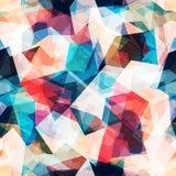 与难看的东西作用的色的马赛克无缝的样式 免版税库存图片