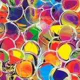 与难看的东西圈子的彩虹无缝的样式 库存图片