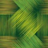 与难看的东西条纹的无缝的几何方格的样式在绿色,黄色和棕色颜色 免版税图库摄影