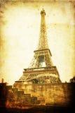 与难看的东西纹理的埃佛尔铁塔 免版税库存图片
