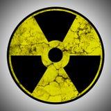 与难看的东西纹理的辐射标志 免版税库存图片