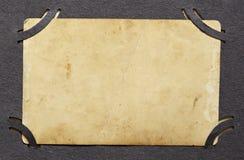 老照片背景在册页的 免版税库存图片