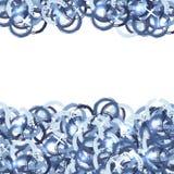 与难看的东西蓝色圈子的抽象背景 库存照片