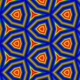 与难看的东西3d作用的霓虹几何样式 免版税库存照片