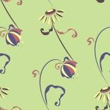 与雏菊和响铃的无缝的模式 图库摄影