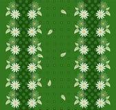 与雏菊和边界的花背景 向量例证