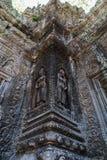 与雕刻的寺庙大厦 库存图片