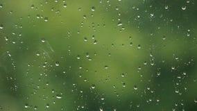 与雨下落的窗口 免版税图库摄影