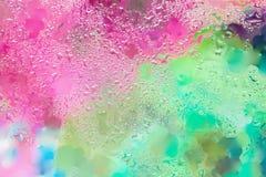 与雨珠的时兴的抽象背景,被弄脏的样式 现代样式、墙纸或者横幅的充满活力的色彩 免版税库存照片