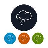 与雨的象云彩,传染媒介例证 库存图片
