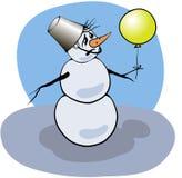 与雪人的五颜六色的照片 免版税库存照片