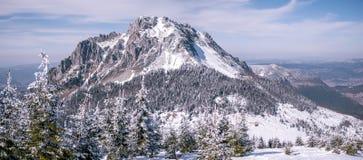 与雪和冰的落矶山脉 库存照片