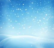 与雪的冬天横向 库存图片