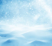 与雪的冬天横向 免版税库存图片