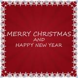 与雪的圣诞节背景。 免版税图库摄影
